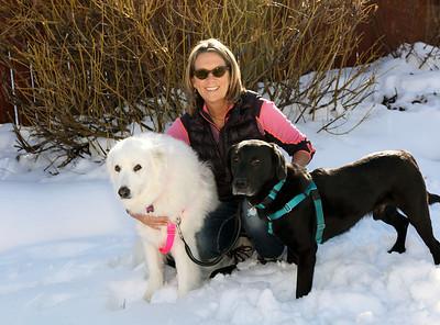 Rhonnie with Buddy & Fiona