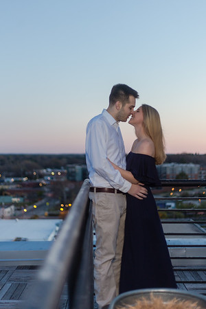 Emily & Will | A Romantic, Intimate Sunrise Engagement at The Durham Hotel