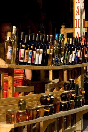 Local wine on sale, Melnik, The Pirin Mountains, Bulgaria
