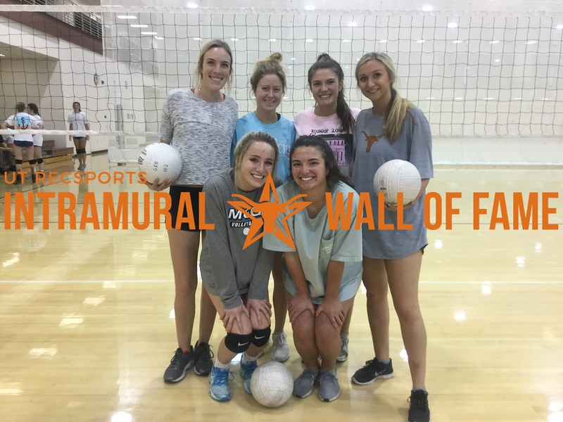 Spring 2018 Volleyball Women's A Runner Up Alpha Chi