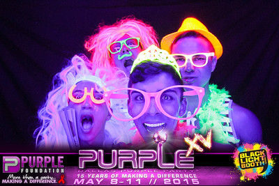 THE PURPLE PARTY | Main Event (Black Light Photo Booth)