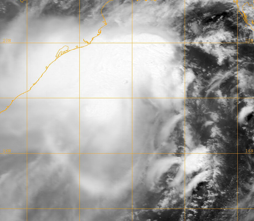 """. This image provided by the Naval Research Lab shows tropical cyclone Mahasen taken Wednesday May 15, 2013 at 0600 GMT. Cyclone Mahasen is forecast to reach land early Friday and has been downgraded to a Category 1 storm, the U.N.\'s Office for the Coordination of Humanitarian Affairs said Wednesday. The U.N. says although the cyclone churning through the Indian Ocean appears to have weakened it could still bring \""""life-threatening\"""" conditions to 8.2 million people along the coasts of India, Bangladesh and Myanmar. (AP Photo/"""