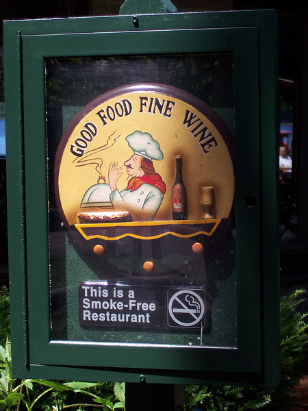 Another new sign at Portofino.