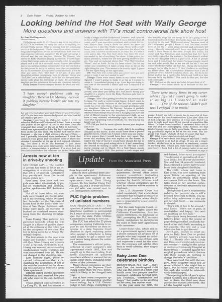 Daily Trojan, Vol. 97, No. 29, October 12, 1984