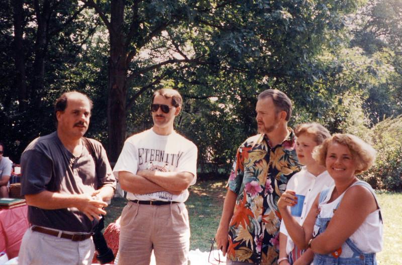 Bob Updegrove, David Parrish, Bob Mills, ---, Beth Coakley Mills