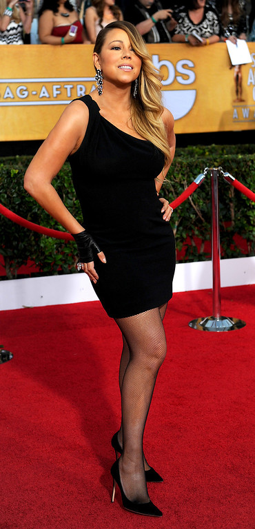 . Mariah Carey arrives at the 20th Annual Screen Actors Guild Awards  at the Shrine Auditorium in Los Angeles, California on Saturday January 18, 2014 (Photo by Michael Owen Baker / Los Angeles Daily News)