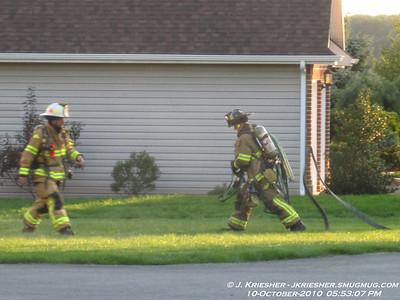 Lehigh County - Weisenberg Twp. - Dwelling Fire - 10/10/2010