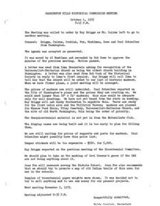 Farmington Hills Historical Commission Minutes