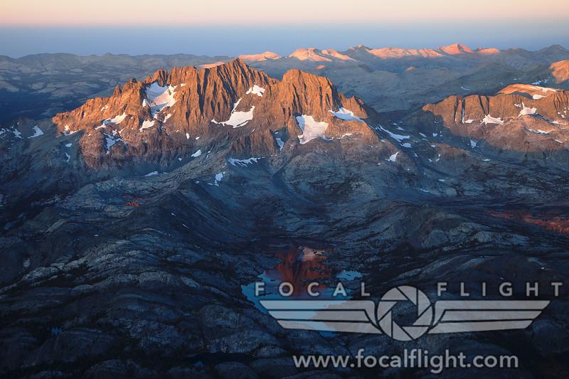 Banner Peak and Garnet Lake at Dawn