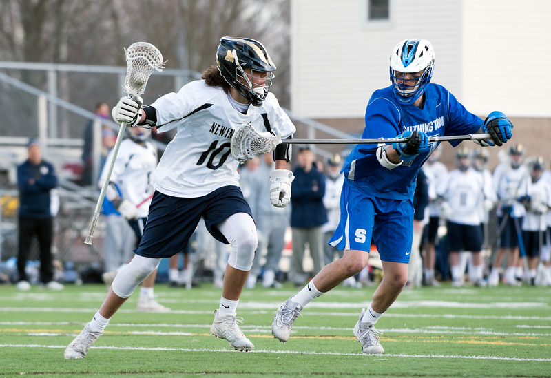 04/10/18  Wesley Bunnell   Staff  Southington boys lacrosse defeated Newington 8-5 at Newington on Tuesday afternoon.  Matt Bradley (10) and Eli Steindl (17)