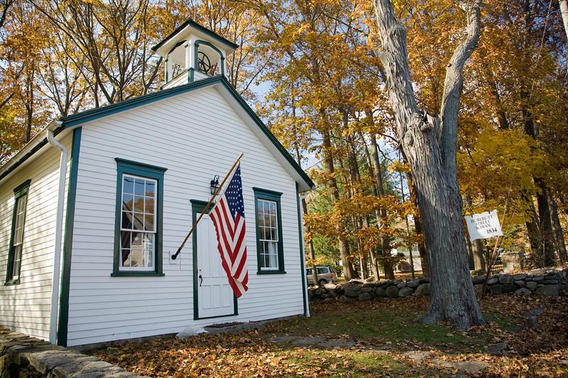 Hurlbutt Street School, 1834, CT, USA,