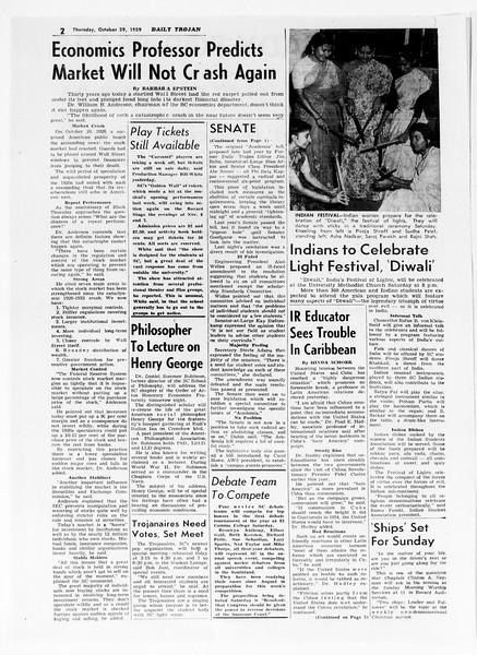 Daily Trojan, Vol. 51, No. 28, October 29, 1959