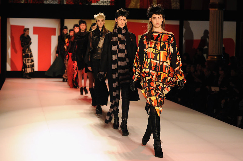 . Models walk the runway during Jean Paul Gaultier Fall/Winter 2013 Ready-to-Wear show as part of Paris Fashion Week on March 2, 2013 in Paris, France.  (Photo by Pascal Le Segretain/Getty Images)
