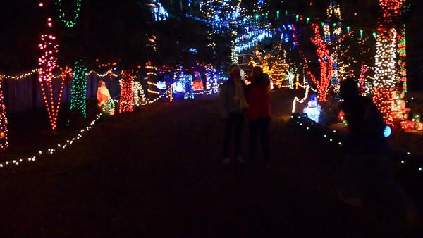 Christmas lights in Idaho