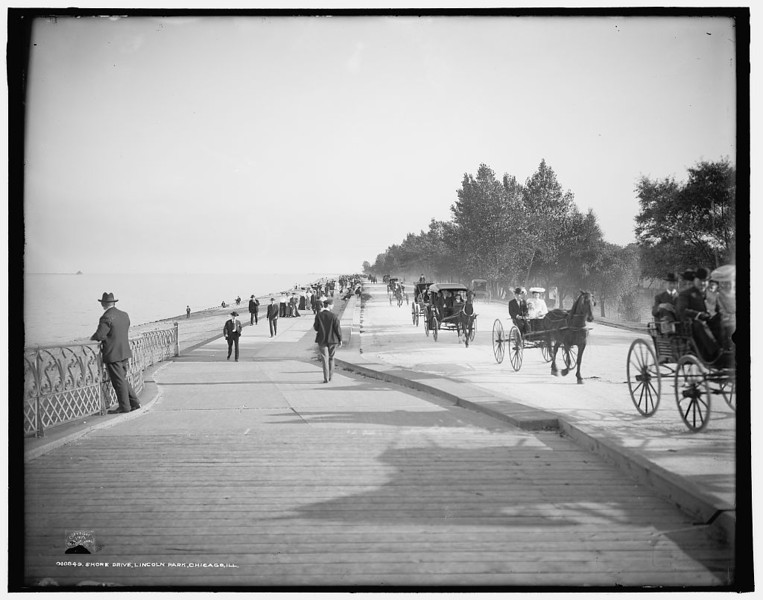 Title: [Lake] Shore Drive, Lincoln Park, Chicago, Ill. Related Names:    Detroit Publishing Co. , copyright claimant    Detroit Publishing Co. , publisher Date Created/Published: c1905.   http://www.loc.gov/pictures/item/det1994000914/PP/
