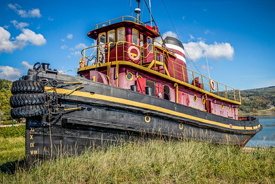 Retired tug boat at the Maritime Museum of Charlevoix, Canada