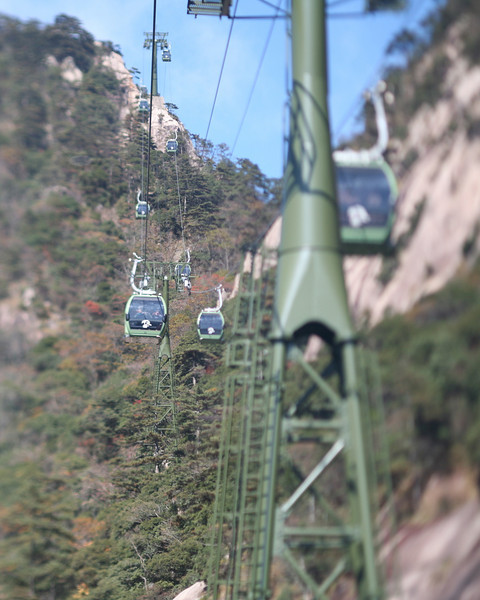 Cable Cars, Yellow Mountain, Huangshan, China