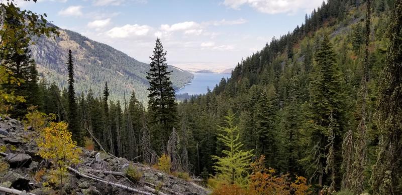 Climbing above Wallowa Lake