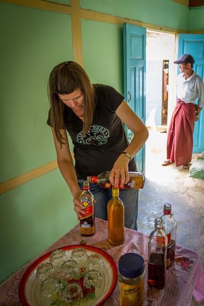 Jodi Making a Rum Sour