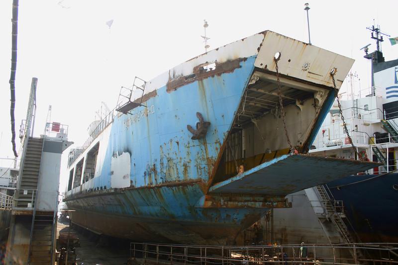 2008 - F/B PORTOFERRAIO in dry dock in Napoli.