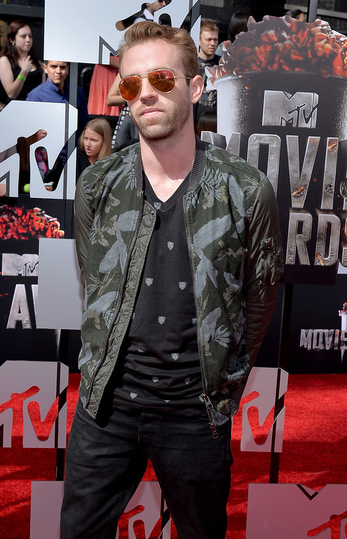 """. Scott \""""Big Cat\"""" Pfaff attends the 2014 MTV Movie Awards at Nokia Theatre L.A. Live on April 13, 2014 in Los Angeles, California.  (Photo by Michael Buckner/Getty Images)"""