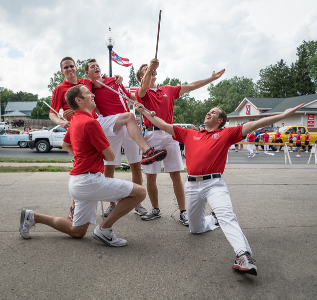 Pre-parade at the Speedway - goofy DMs