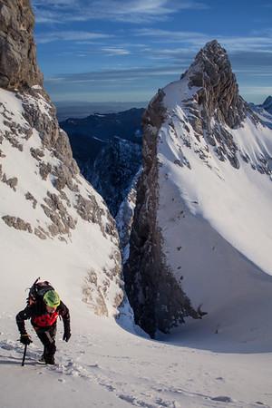 01 13 Winter Ascent of Jalovec