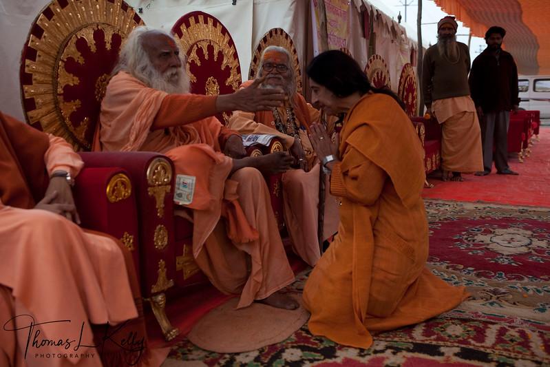 107 years old, Gopala Nandaji. Kumbha Mela in Allahabad, India.