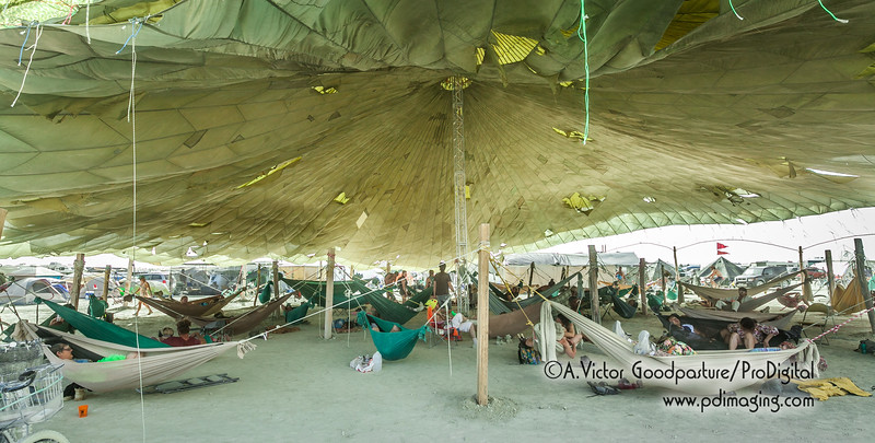 This camp offered hammocks.