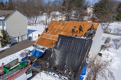 Aerials of Roof Work by DiGiorgi Roofing (Shelton, CT) 3/6/19