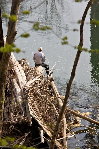fishing under the Interstate 70 bridge