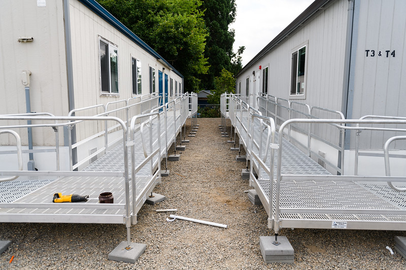 New ramps for modular classrooms at McNary High School on Friday, August 16, 2019, in Keizer, Ore.