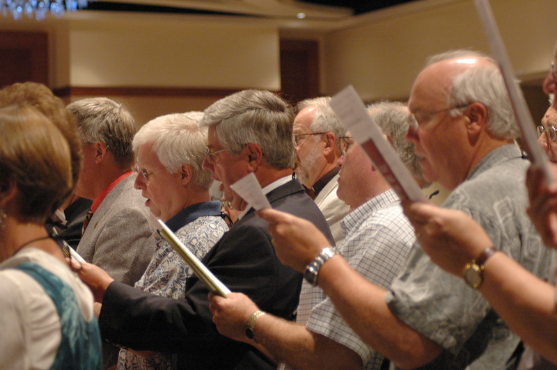 ELCA Synod Bishops and spouses formed the choir for Wednesday's worship service.