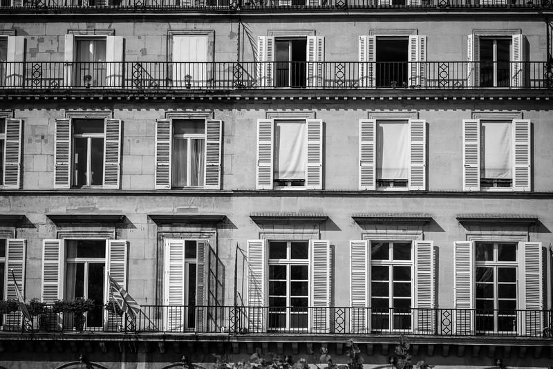 Apartment windows, Paris