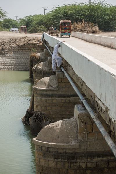 Bridge over the tributary of the Indus River.