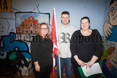 Committee Members of Newry Polonia Dan Gebski, Iza Kaminska and Aga Kornatowska pictured at a Fun Day held in St Mary's Boat Street. R1606014