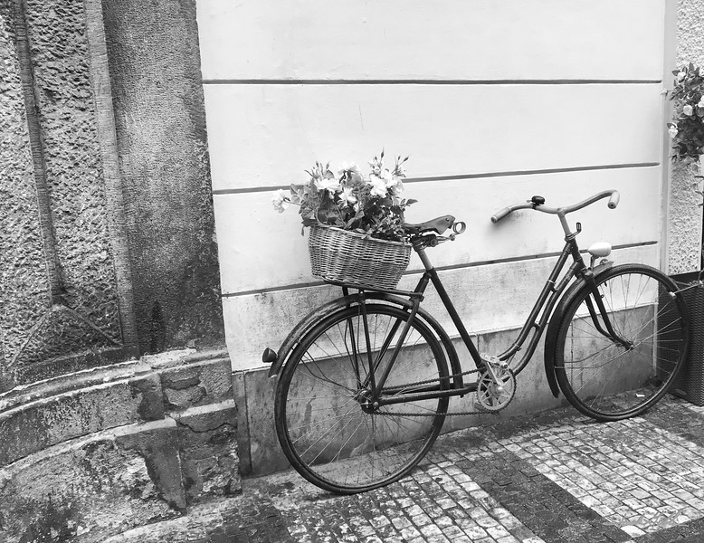 Flowers and bicycle, Prague Old Town