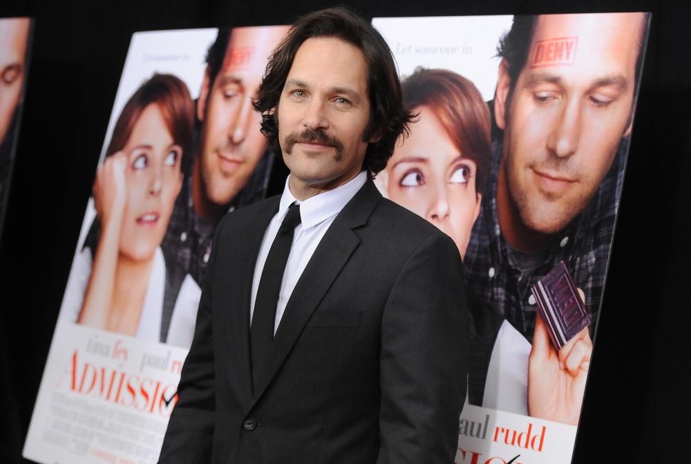 """. Actor Paul Rudd attends the premiere of \""""Admission\"""" at AMC Loews Lincoln Square on Tuesday March 5, 2013 in New York. (Photo by Evan Agostini/Invision/AP)"""