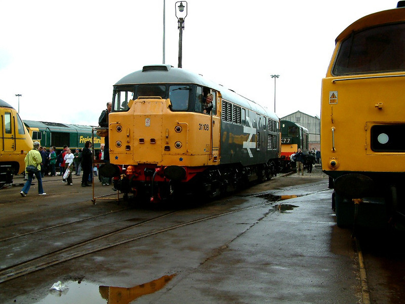 31108 stands at Crewe Works on the 10th September 2005