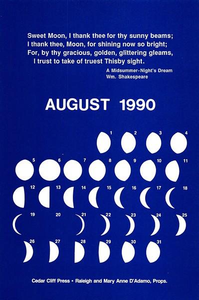 August, 1990, Cedar Cliff Press