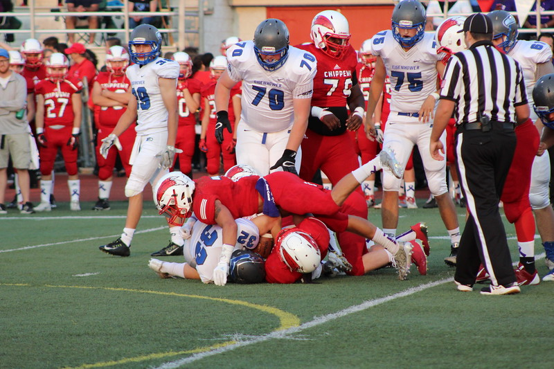 Eisenhower vs. Chippewa Valley in a  MAC Red Division game on Sept. 15, 2017. (Galllery by Kevin Lozon)