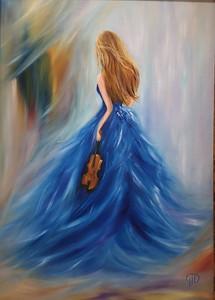 """Fermata"" (oil on canvas) by Natali Demina"