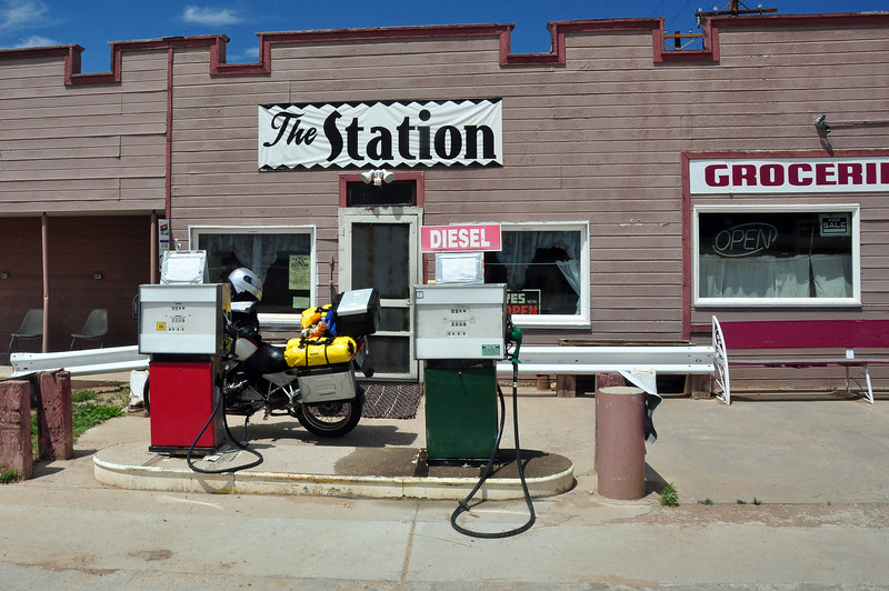 Getting gas in Gardner, CO.