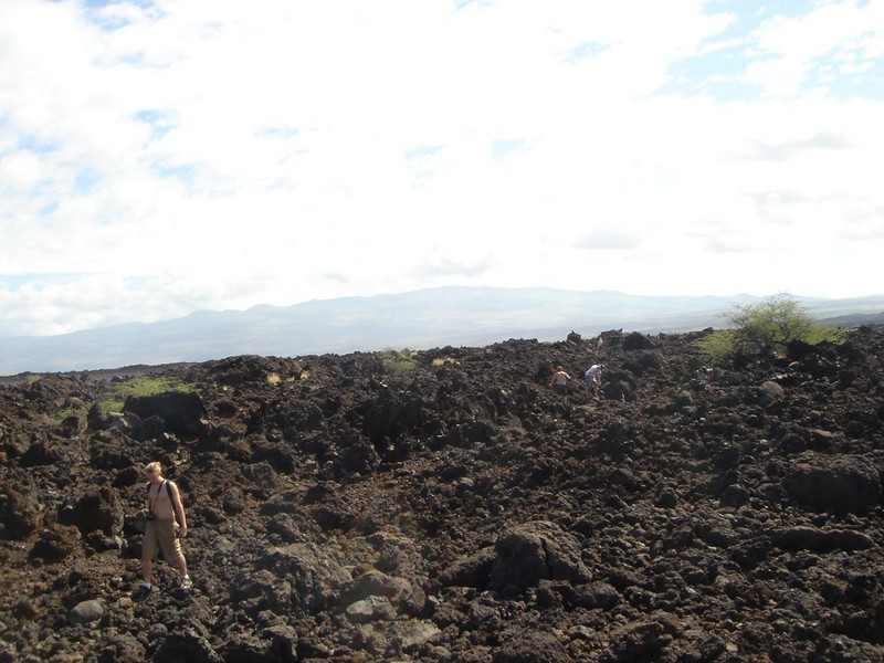 Landscape from lava flows - Hawaii