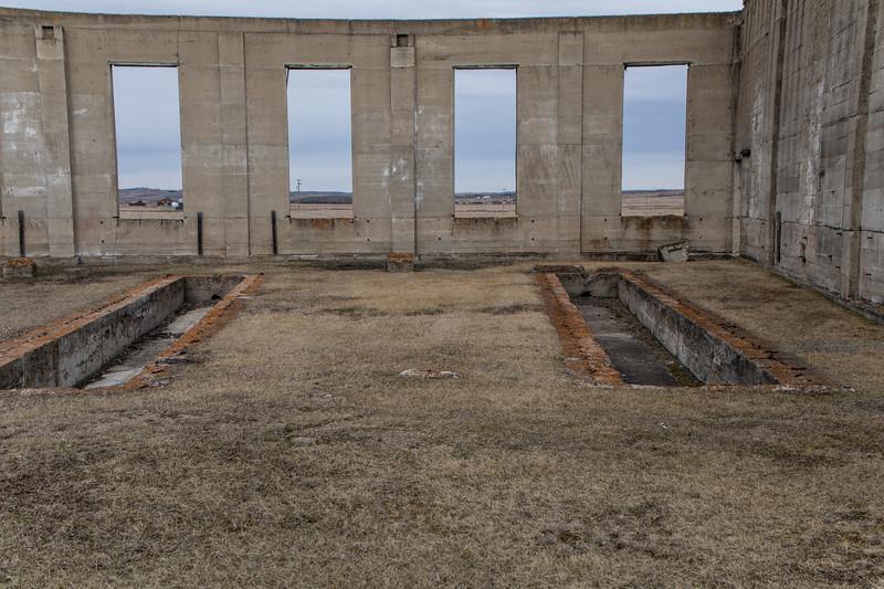 Abandoned Railway Roundhouse Complex