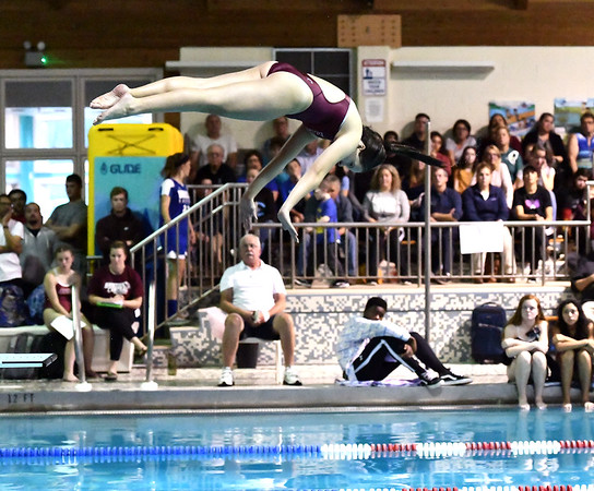 10/29/2019 Mike Orazzi | StaffrBristol Centrals Christina Tomcakduring diving at Tuesdays girls swim meet with Bristol Eastern. r