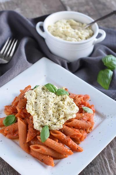 Vegan Pasta with Ricotta