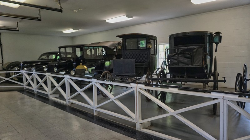 A series of carriages and cars used by Martha Berry