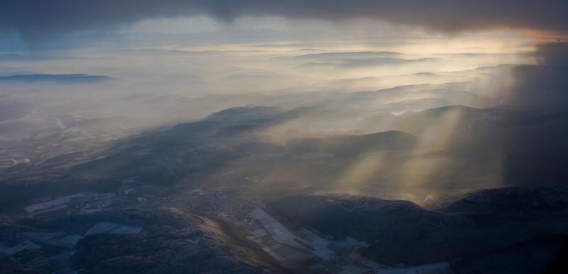From a plane near ZRH ...