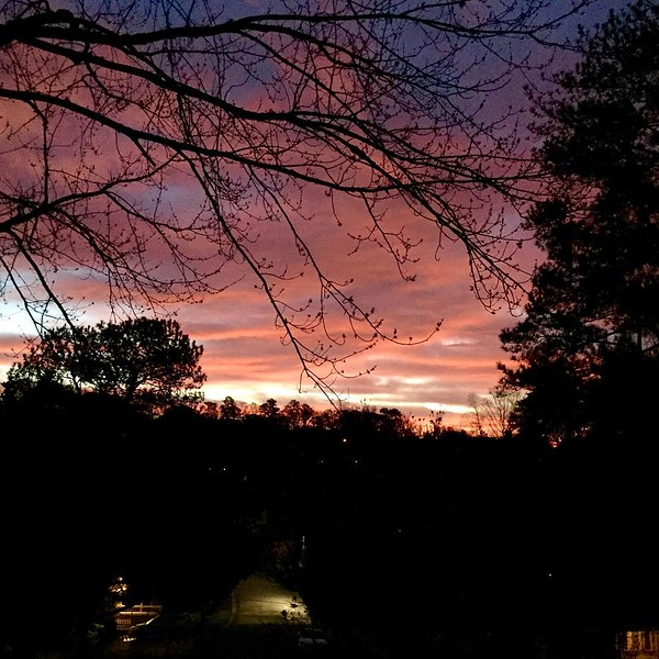 Henry's birthday sunrise was special this morning! #skyporn #sunrise #clouds #chastainpark #atlantasunrise